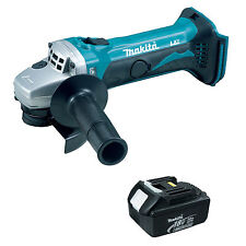 MAKITA 18V LXT DGA452 DGA452Z DGA452RFE ANGLE GRINDER AND BL1830 BATTERY