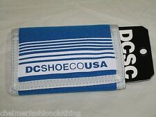 BNWT - DC SHOES  Striped Trifold Coin  Wallet -  Blue  White