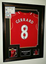 *** Rare STEVEN GERRARD of Liverpool Signed Shirt Display *** LEGEND