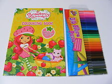 BAMBINI STRAWBERRY SHORTCAKE DA COLORARE LIBRO DA COLORARE + 30 PENNE COLORATE