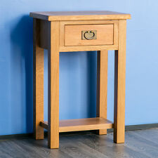 Surrey Oak Telephone Table / Solid Hardwood Console Table / Brand New Hall Table