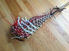 lacrosse stick complete wooden with traditional pocket