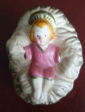 """Vintage Baby Jesus for 4 - 5"""" Christmas Nativity Composition Ceramic Figurines"""