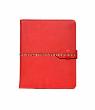 New iPad 2 3 & 4 Cover In Red Nappa Luxury Real Genuine Leather Cover Case Stand