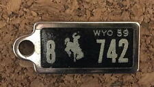 1959 Wyoming DAV Tag Keychain License Plate Disabled American Veterans 8 742