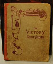 Antique Vintage 833 Stamps World-wide Victory Album Rare Collection 152 pages