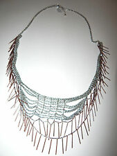 FREE PEOPLE NECKLACE LONG MESH DANGLES MULTI TIER COPPER NICKEL BRAND NEW #514
