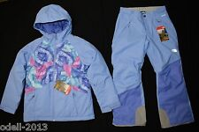 The North Face Girls Brianna Insulated Snow Jacket Freedom Ski Pants Set M NEW