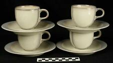 Set of 4 Thomas Germany Ombra Cup Saucer Casa Shape Cream/Grey Design 8 avail HH