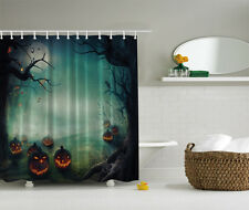 "HALLOWEEN FIELD OF SCARY PUMPKINS NEW 70"" Fabric Bathroom Shower Curtain"