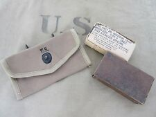 Orig US Army Verbandspäckchen Tasche + First Aid Dressing Kit Pouch Carrier Belt