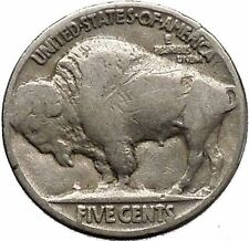 1935 BUFFALO NICKEL 5 Cents of United States of America USA Antique Coin i43784