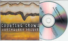 COUNTING CROWS Earthquake Driver UK 1-trk promo test CD radio edit