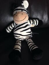 NEW Mothercare zebra Cuddly Baby Soft Toy Comforter plush black white lost A3