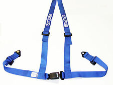 "Sparco Racing Street 3 Point Bolt-In 2"" Seat Belt Harness (Blue)"