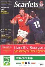 Llanelli V Bourgoin 10 jan 2003 Rugby H CUP de programme