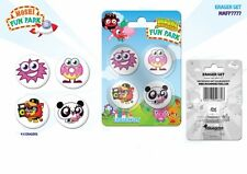 Moshi Monsters 'Fun Park' 4pc Eraser Set School Stationery Brand New Gift