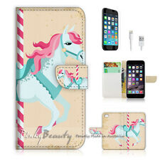 "iPhone 6 (4.7"") Print Flip Wallet Case Cover! Pony Kids P1430"