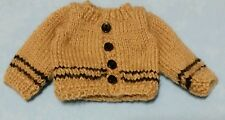 Hand-knit doll sweater for 8 inch boy dolls:Fire-Flies Convention LE souvenir!