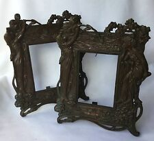 Rare Pair of Antique Art Nouveau Beatrice Cast Metal Frames 1043 John Harper &Co