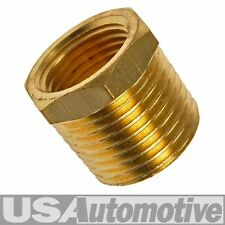 "PIPE FITTING BRASS BUSHING 3/8"" FEMALE NPT x 1/2"" MALE NPT"