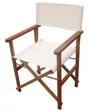 Silla sillón butaca director plegable de madera meranti estándar crudo cm