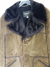 Sexy Chocolate Brown Mens Courduroy Vintage Coat Jacket Size 40 Mid Century Mod