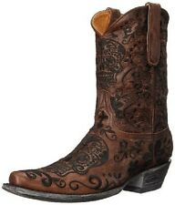 "New in Box Mens Old Gringo Men's Klak Western Boot Brass SKULL 10"" Boots Sz 11.5"