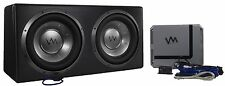"VM Audio Dual 12"" 4800 Watt Complete Car Stereo Subwoofer Bass Package"