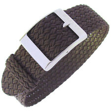 20mm Eulit PALMA Brown One-Piece Woven Nylon Perlon German Made Watch Band Strap