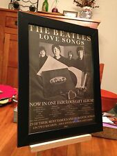 "FRAMED BEATLES ""LOVE SONGS"" LP ALBUM CD PROMO AD + ""SOUNDS OF THE STAR-CLUB"" CD!"