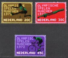 Netherlands - 1972 Olympic games Munich Mi. 991-93 MNH