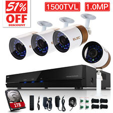 ELEC 1500TVL 8CH DVR Home HDMI CCTV Outdoor Video Security Camera System 1TB