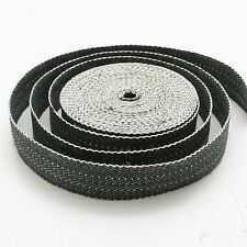 PREMIUM BLACK & WHITE JUTE HESSIAN WEBBING 16M ROLL CHAIR UPHOLSTERY STRAPPING