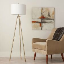 Tripod Floor Lamp Antique Brass 3 Slender Legs Incandescent Style Delicate Metal
