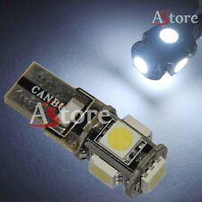 2 Lampade Lampadine LED T10 5 SMD Canbus 5050 BIANCO Xenon Posizione W5W
