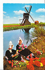 Netherlands Postcard - Holland - Land of Flowers and Wind-Mills     A9819
