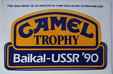 Aufkleber CAMEL TROPHY 1990 Baikal USSR Land Rover Discovery Disco Sticker NL