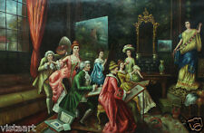 """Extra Large Oil Painting On Canvas 48""""x 72""""- Victorian Scene of Model Drawing"""