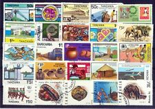 TANZANIA-25 All Different Large Thematic Used Genuine Postage Stamps