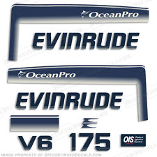 Evinrude 175hp V6 OceanPro Outboard Decal Kit - 1993 1994 1995 1996 1997