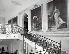 1939 Vintage AP Photo grand staircase portraits British Embassy Washington D.C.