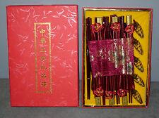 Coffret - service baguette Chinoise x 11 paires + 5 canards pose baguettes  (T)