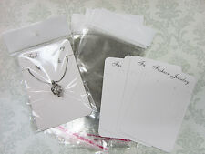 Earring Card & Resealable Clear Hang Bag 7x10cm Jewelry Display JD-1-400pc White