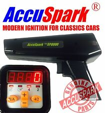 AccuSpark Black SP8000 Ignition Timing strobe Lamp digital advance / Rev counter