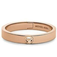New Michael Kors Hinge Bangle MK Rose Gold HERITAGE FULTON MKJ3251791 MKJ3251