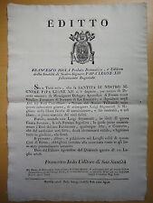 1828-EDITTO-LUIGI RIPAMONTI di MOGLIANO MARCHE-Libera facoltà di amministrare
