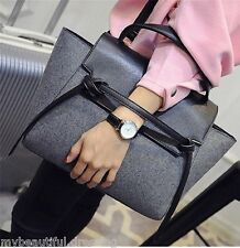 MW008382 - FASHION WOOLEN FABRIC SATCHEL SHOULDER BAG