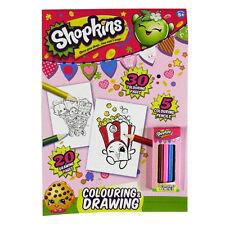 Libro Para Colorear Y Dibujar A4 Shopkins Con Lápices - 20 y 30 en color blanco