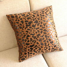 "Fashional Leopard Printed Decorative Pillow Case Cushion Cove 17"" Brown PT116"